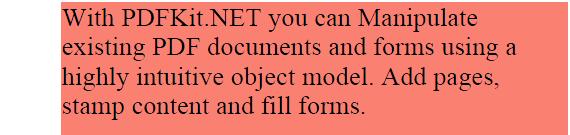 Default formatting