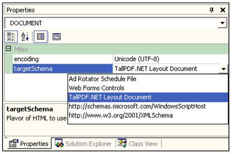 Select The TallPDF NET 40 XML Schema File