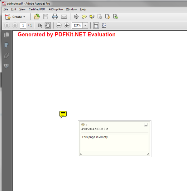PDF With Note Added