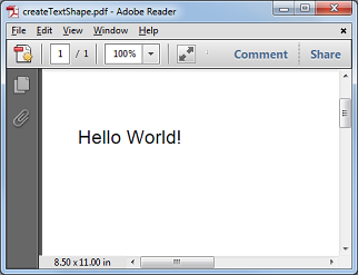 Example Of Single Line Text To Pdf